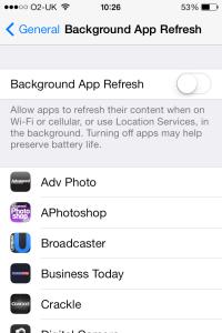 iOS 7 background app refresh