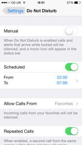 iOS Do Not Disturb 1