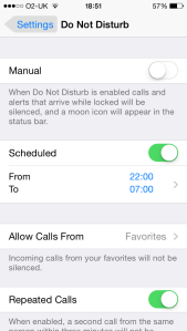 iOS Do Not Disturb 1